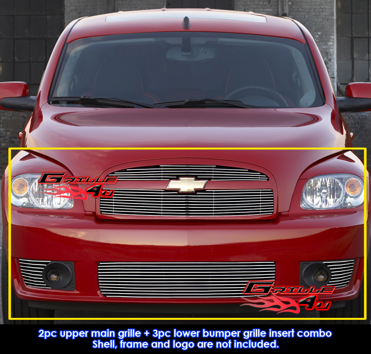 Fits Chevy Hhr Ss Billet Grill Insert Combo With Fog Light 2006