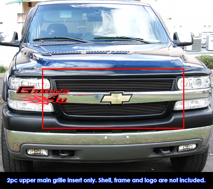 Fits Chevy Silverado 2500 3500 Black Billet Grille Grill Insert 2001 2002 Ebay