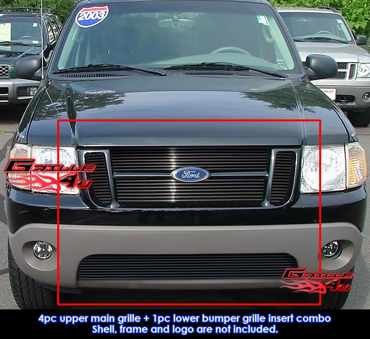 Ford Sport: Fits 2001-2005 Ford Explorer Sport Trac Black Billet Main