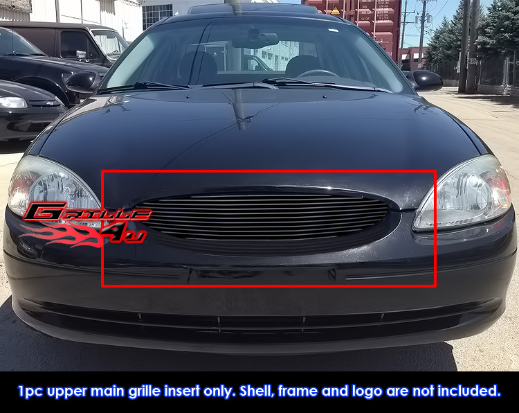 New fit ford taurus black billet grille grill insert 2000 2003 image is loading new fit ford taurus black billet grille grill thecheapjerseys Images