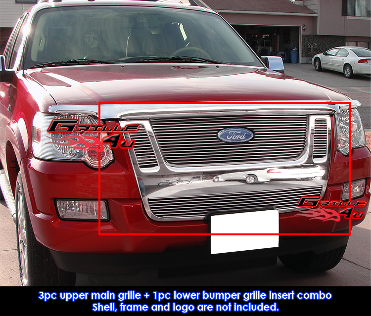 for 07 10 ford explorer sport trac billet grille combo. Black Bedroom Furniture Sets. Home Design Ideas