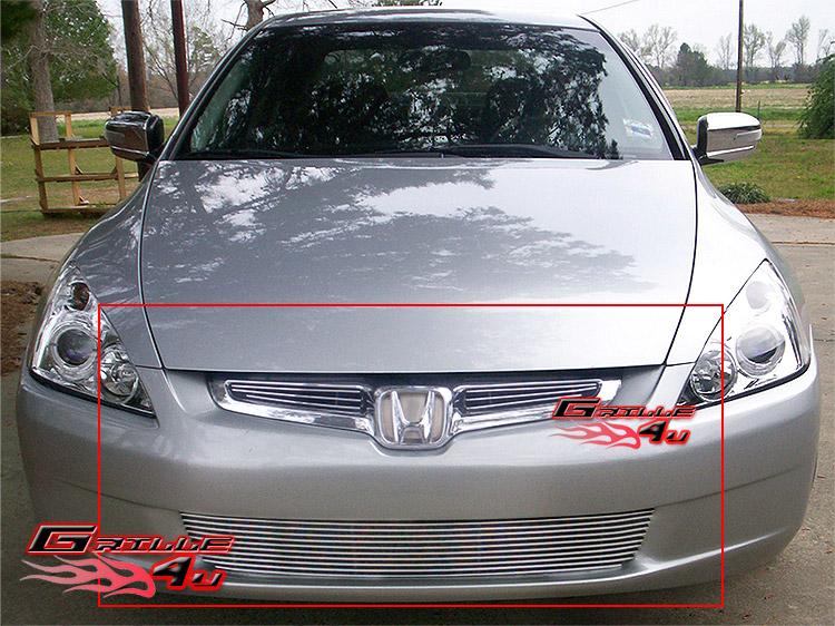 Fits 2003-2005 Honda Accord Sedan Bumper Billet Grille