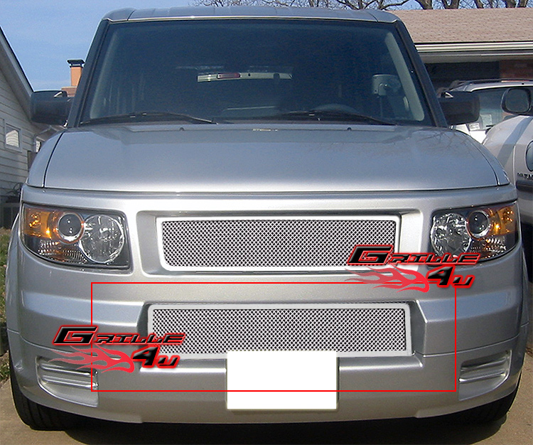 Fits 2007 2008 Honda Element SC Lower Bumper Stainless Mesh Grille