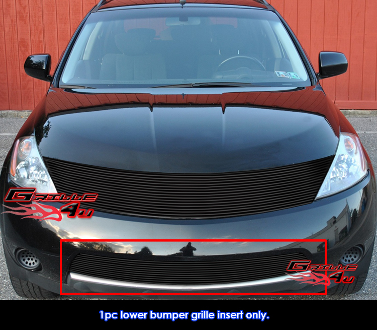 New Fit Nissan Murano Black Bumper Billet Grille Grill Insert 2003