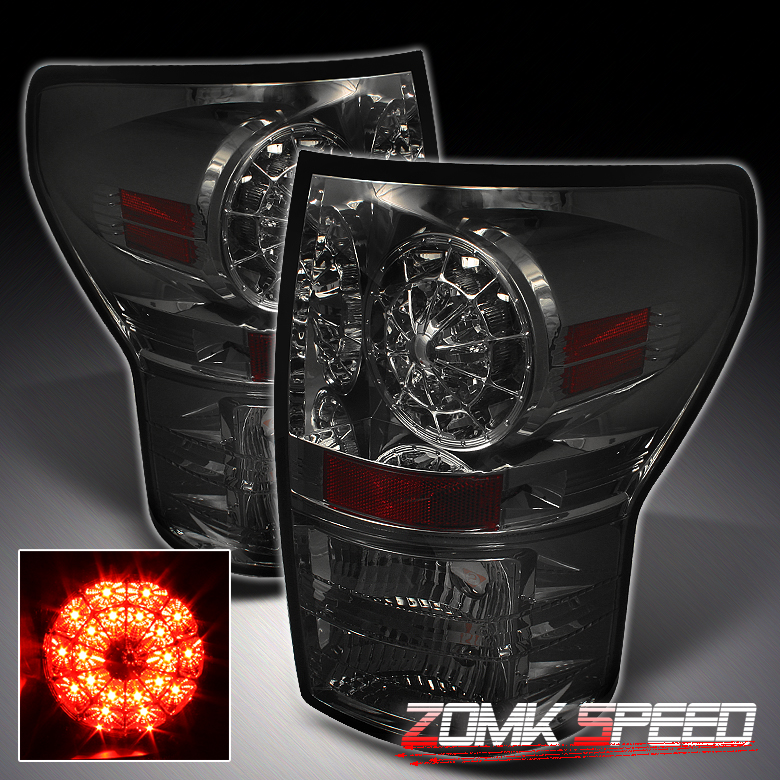 2007 2010 TOYOTA TUNDRA PICKUP FULL LED TAIL LIGHTS SMOKED(LEFT AND
