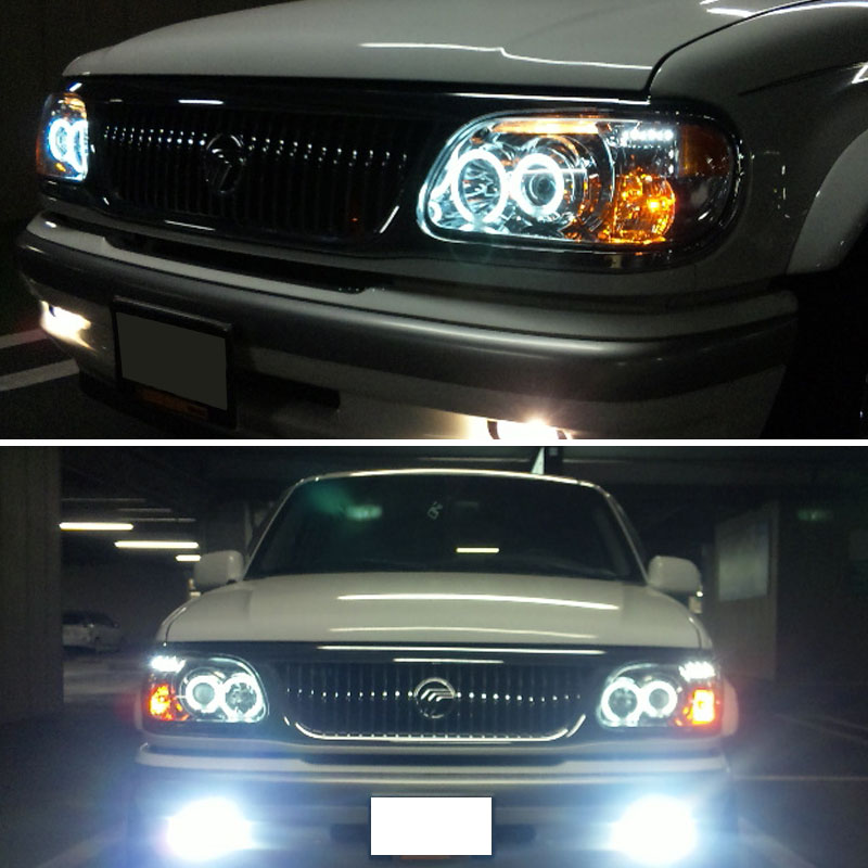 For 1995-2001 Ford Explorer Twin Halo LED Pro Headlights ...