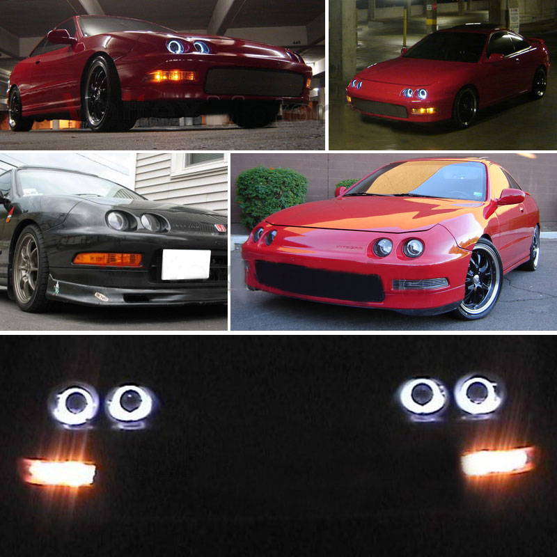 halogen headlights rowland installed large integra acura black on zak projector spyder qrk