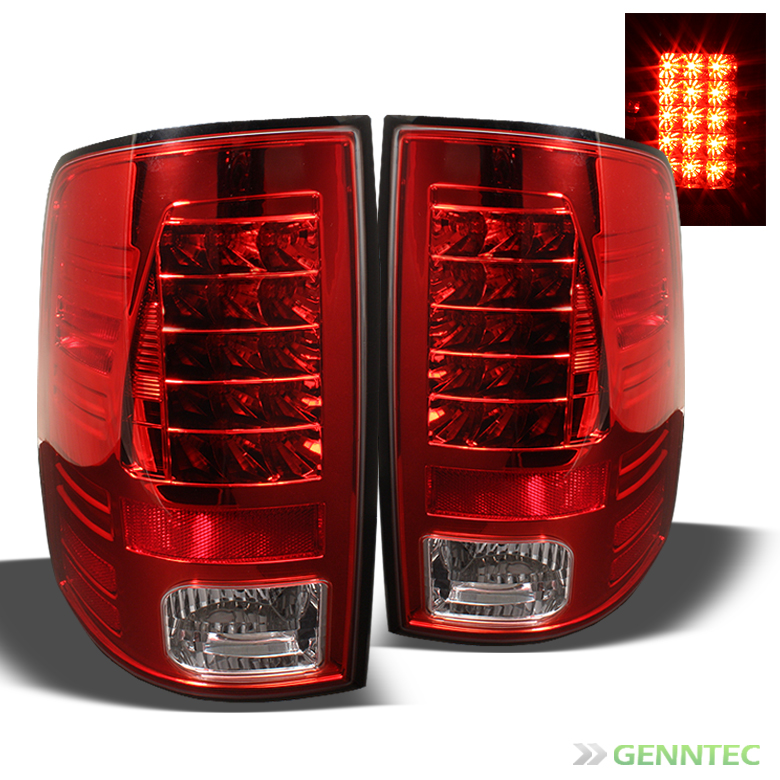 2009 2013 Dodge RAM LED Red Tail Lights Lamps Rear Brake Pair Left Right Set New