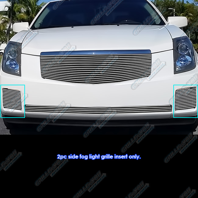 For 2003-2007 Cadillac CTS Fog Light Cover Billet Grille