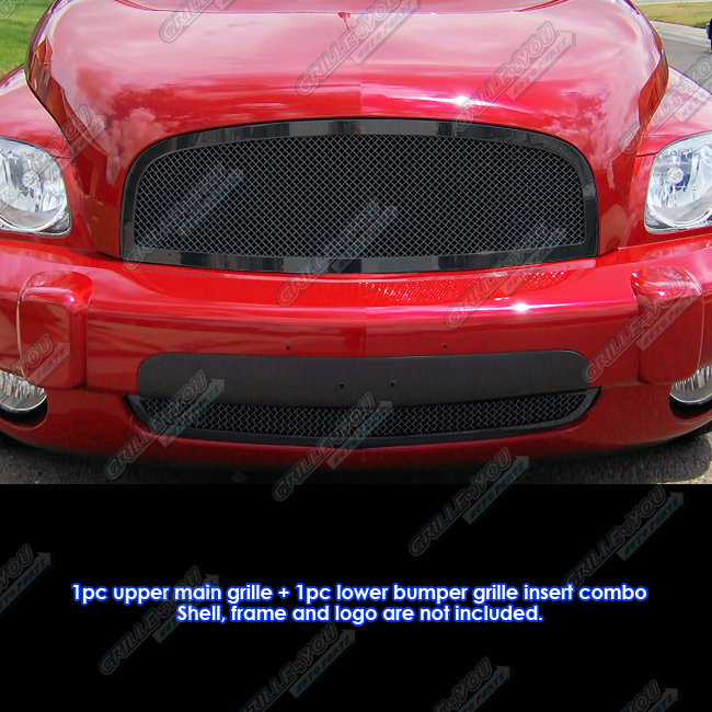 Custom Fits 2006 2011 Chevy Hhr Black Stainless Steel Mesh Grill