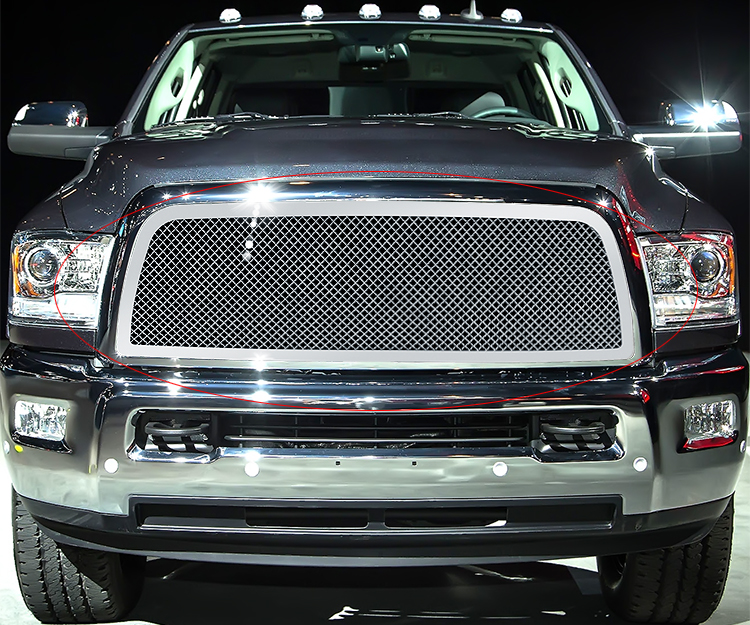 FITS 2013-2019 RAM 2500/3500 Stainless Steel Chrome Mesh