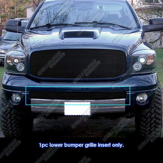 fits 06 08 dodge ram sport bumper black billet grille insert ebay. Black Bedroom Furniture Sets. Home Design Ideas