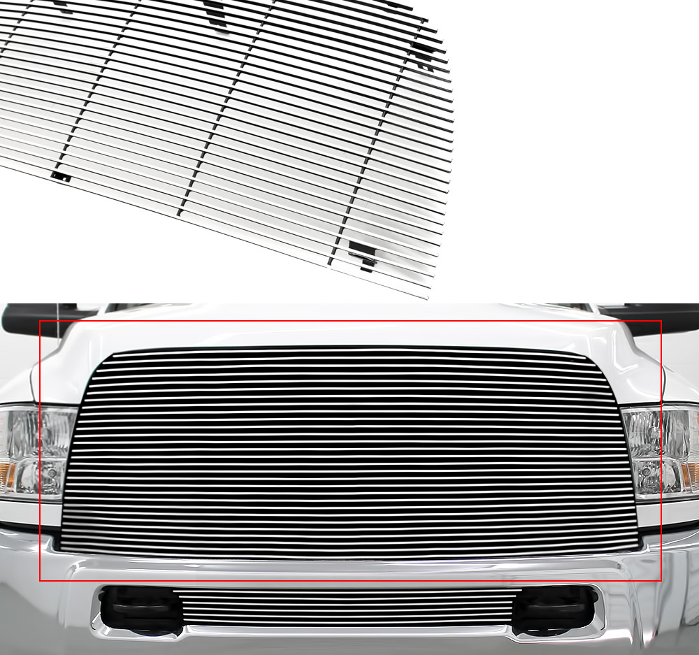 APS Compatible with 2013-2018 Ram 2500 3500 Lower Bumper Stainless Steel Silver Horizontal Billet Grille Insert D66332C