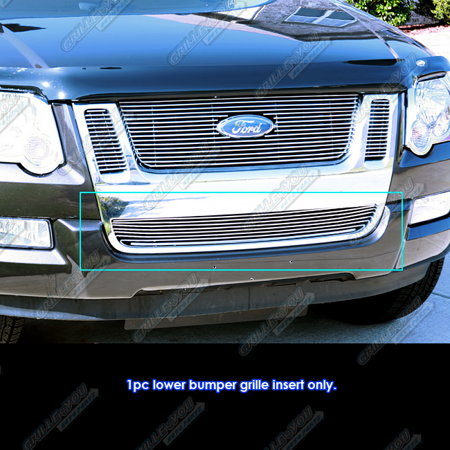 fits 07 10 ford explorer sport trac bumper billet grille ebay. Black Bedroom Furniture Sets. Home Design Ideas