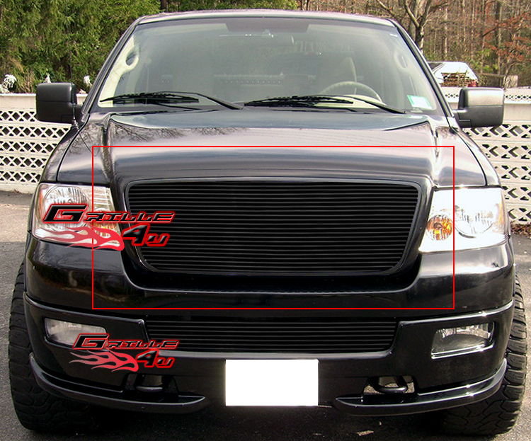 fits 04-08 ford f-150 honeycomb style black billet grille insert | ebay