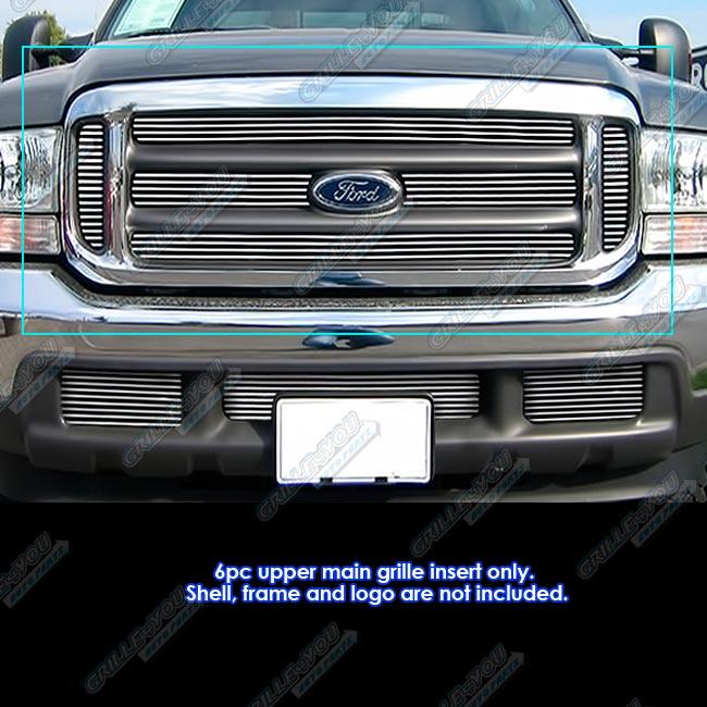 Fits 99-04 Ford F250/F350/F450/ F550 Main Upper Billet Grille Insert 637230824542 | eBay