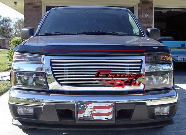 Fits 2004-2012 GMC Canyon Black Billet Grille Grill Insert