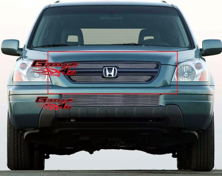 Fits 2003-2005 Honda Pilot Main Upper Billet Grille Insert | eBay