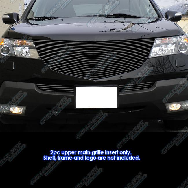 Fits 2007-2009 Acura MDX Black Main Upper Billet Grille
