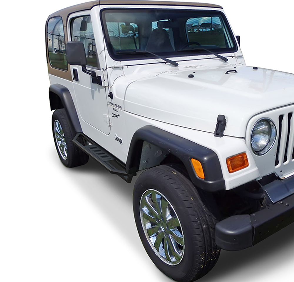 APS Jeep Off-Road Side Armor Custom Fit 1987-2006 Jeep Wrangler ...