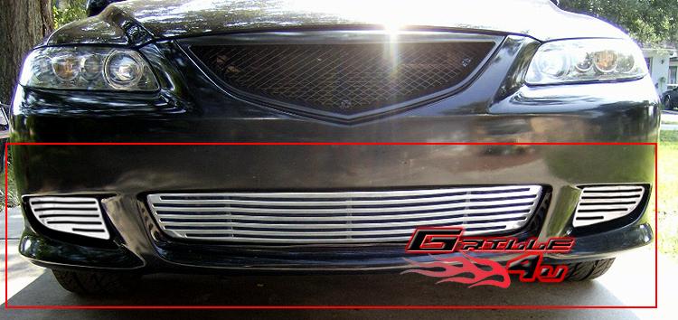 Fits 2005-2008 Pontiac G6 Main Upper Black Billet Grille Insert