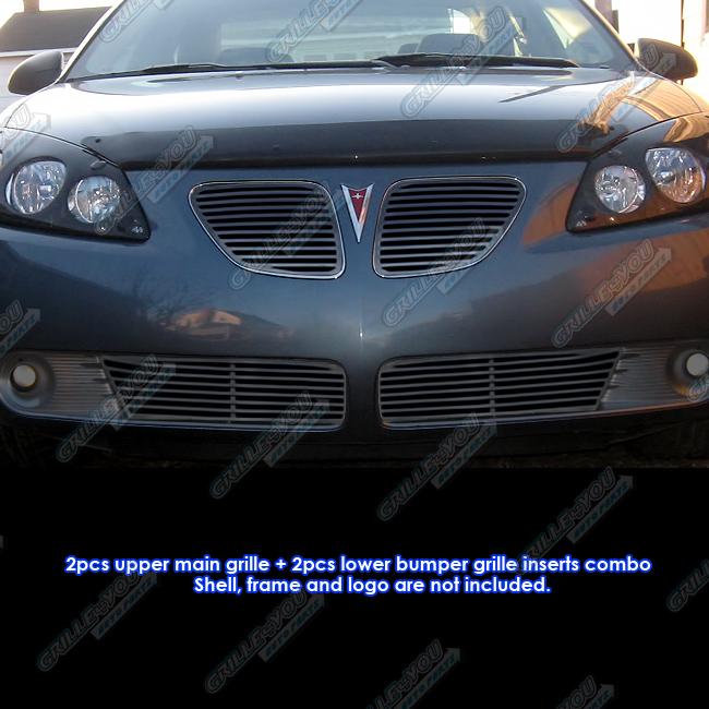 Fits 2005 2008 Pontiac G6 Perimeter Black Grille Combo Ebay