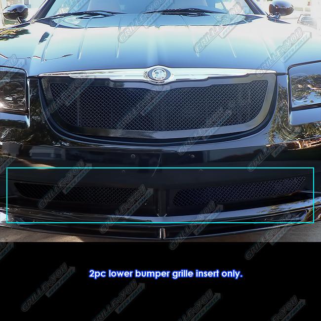 Fits 2004-2008 Chrysler Crossfire Lower Bumper Black Mesh