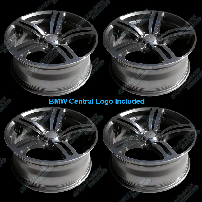 Machined Face Wheels 18x8 0 Rims with Central Cap Logo 4pc New