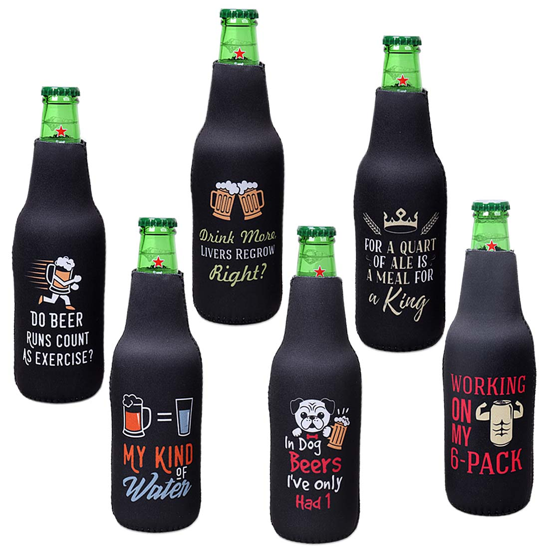 Avery Barn Funny Quotes Neoprene Insulated Zipper Beer