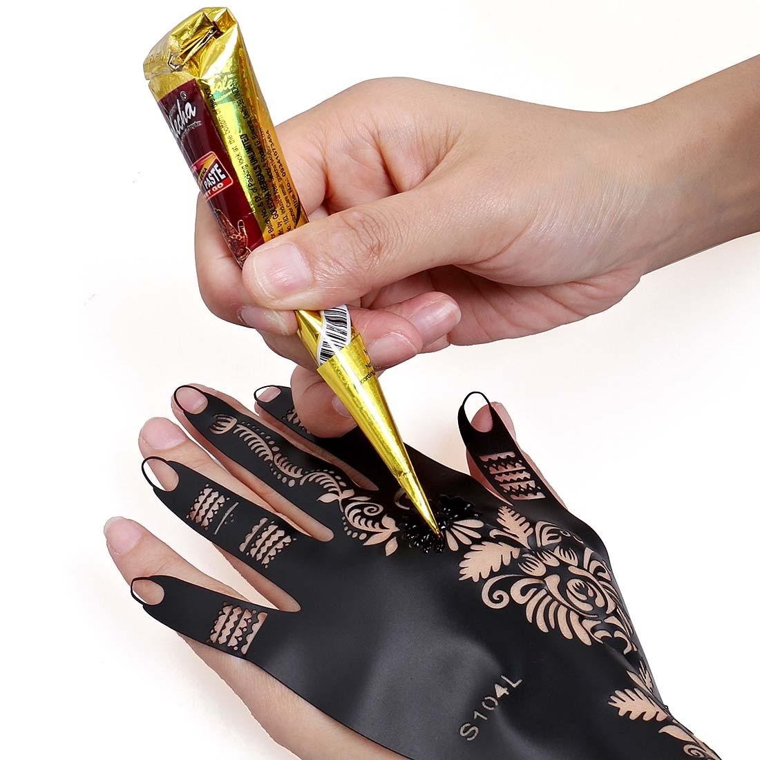 Harga Henna Tattoo Kit: BMC 14pc Mehndi Henna Tattoo Starter Kit