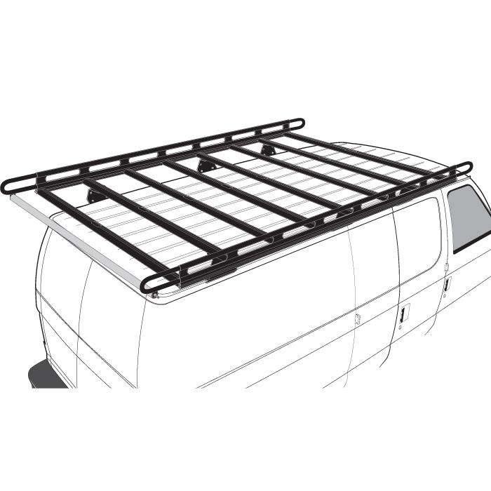 Black H2 Ladder Roof Rack 72 Quot Bars 110 25 Quot Cargo Rails
