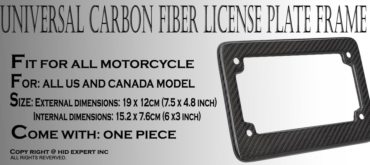 JDM Motorcycle Carbon Fiber License Plate Frame UNIVERSAL FAST ...