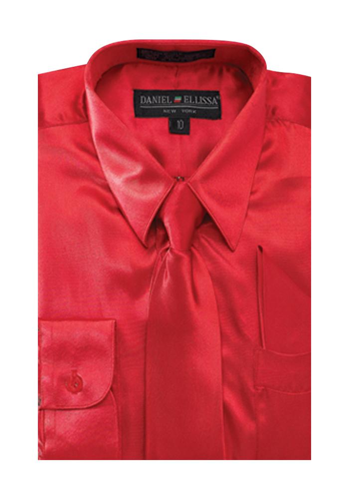 Boy's Satin Dress Shirt with Matching Tie and Hanky Set   eBay