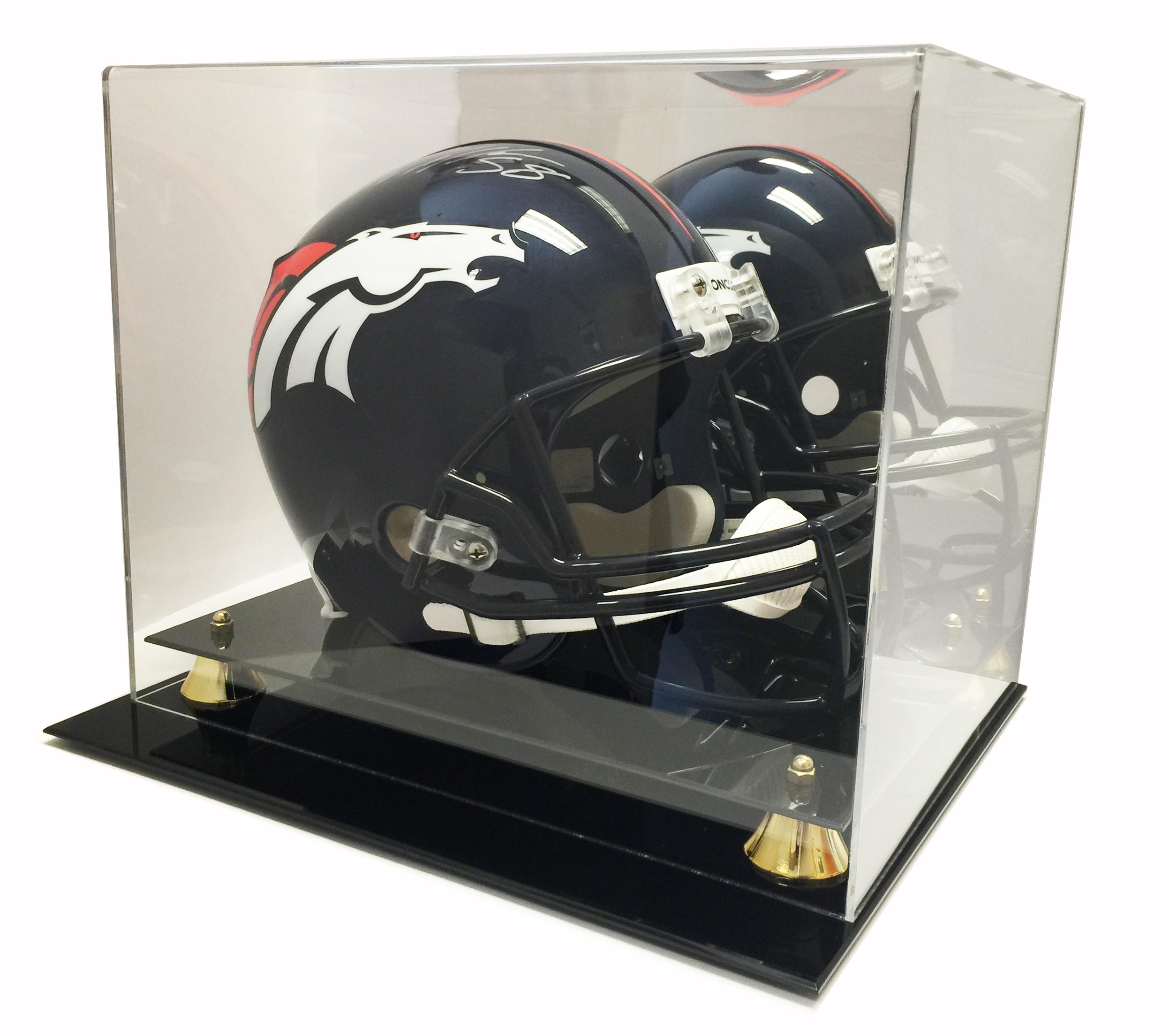 Deluxe Full Size Football Helmet Display UV Case w/ Mirror ...