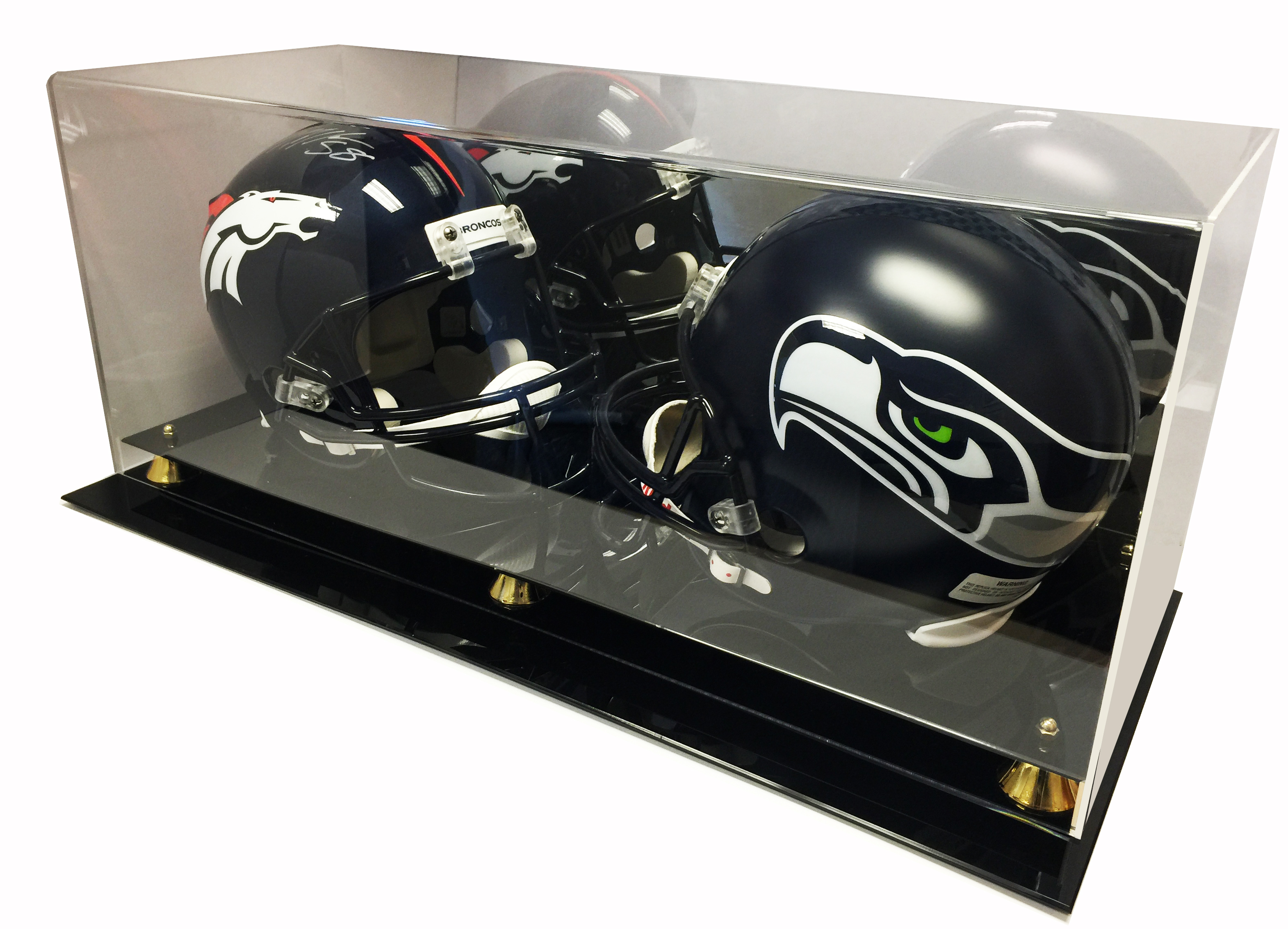 Max Deluxe Acrylic Double Full Size Football Helmet ...