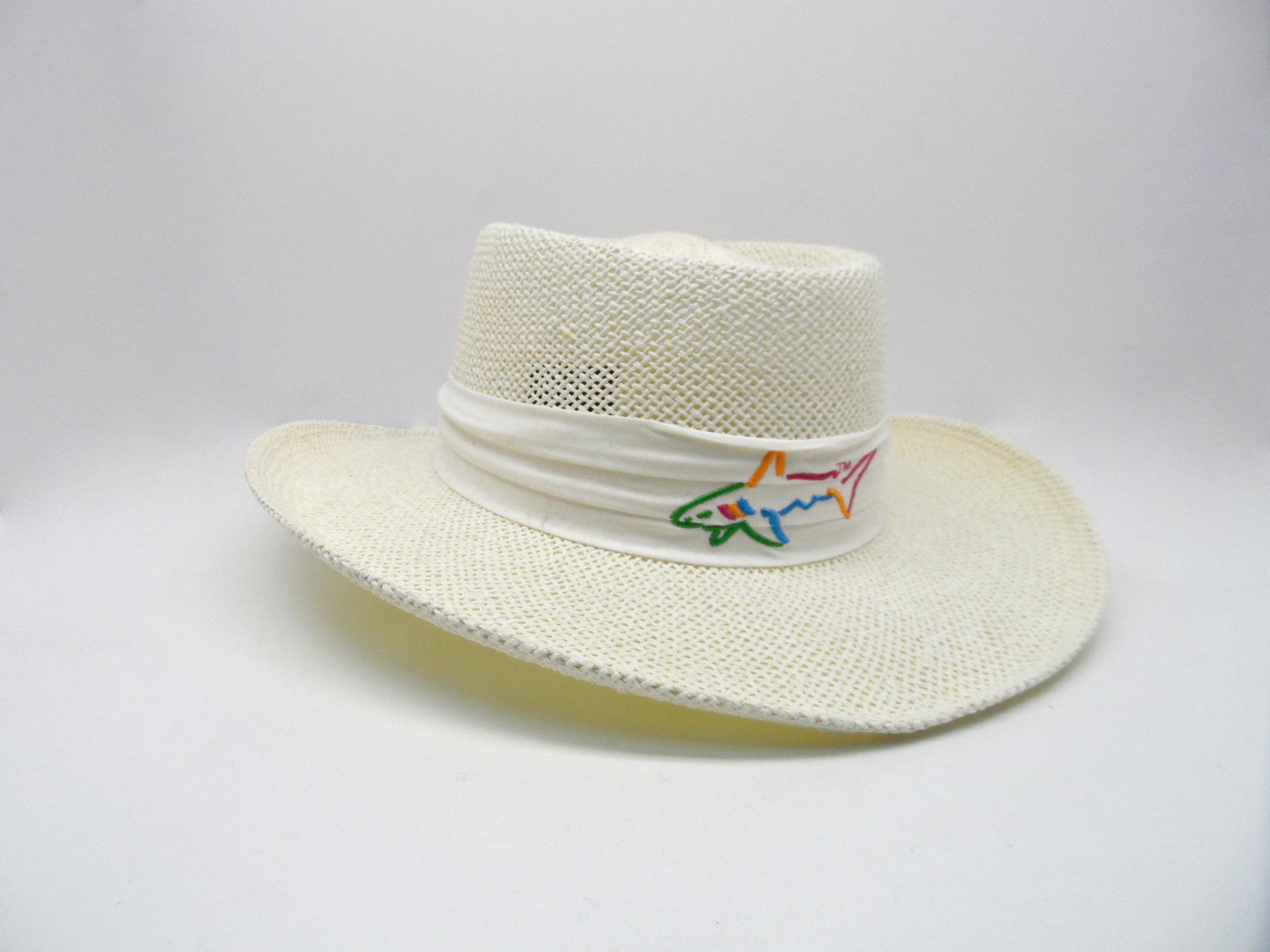 Greg norman collection men shark logo band straw golf jpg 1984x1488 Greg  norman straw hat white 80fa61f91fbd