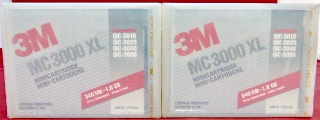 (lot 2) 3m Data Tape Mc3000xl Qic-3310 3020 3040 3050 400 Ft 340 Mb-1.0 Gb Sterke Weerstand Tegen Hitte En Hard Dragen