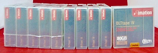 "(lot 10) 5112211776 Imation Data Tape Dlt Iv 1/2"" Cartridge 4000 7000 8000 Vouw-Weerstand"