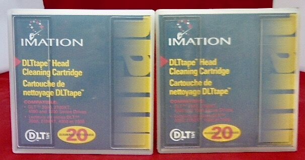 (lot 2) 5112212919 Imation Cleaning Tape Dlt Head 2000 2700xt 4000 7000 20