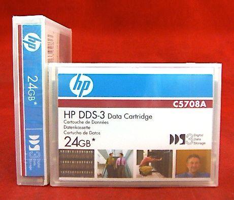 (lot 2) C5708a Genuine New Hp Data Tape Dds-3 3 Digital Data Storage 24gb Modieuze Patronen