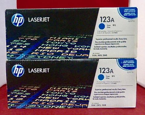 Q3972A 123A Genuine HP Yellow Toner Color LaserJet 2500L 2550LN 2550 $ Lot 2