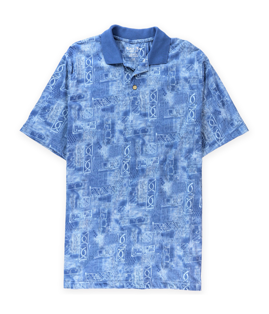 Batik Bay Mens Tropical Print Rugby Polo Shirt