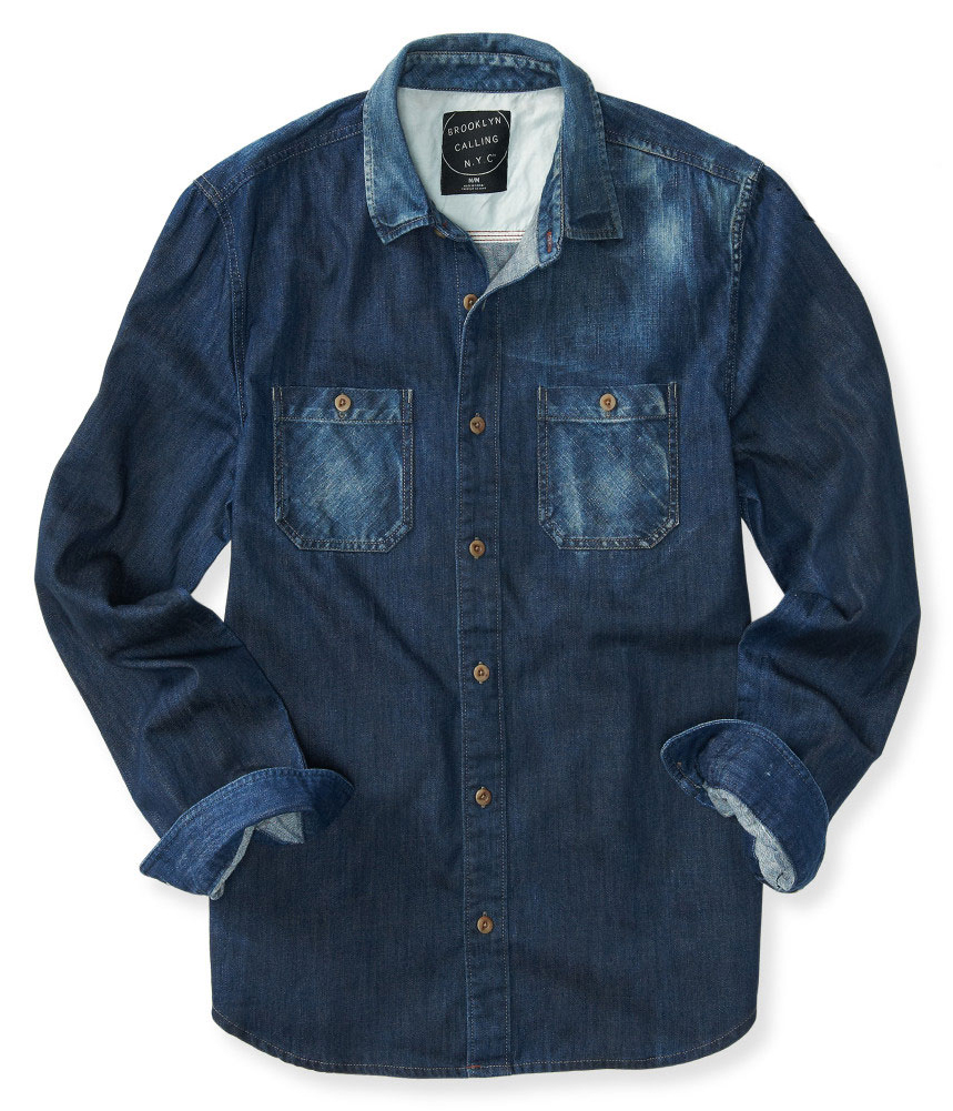 GUESS Mens Faded Denim Button Up Shirt. Sold by Tags Weekly. $ $ Port & Company - Long Sleeve Value Denim Shirt. SP10 Faded Blue* Sold by Vir Ventures. $ $ Port Authority Tall Long Sleeve Denim Shirt. TLS Faded Blue* Sold by Vir Ventures.
