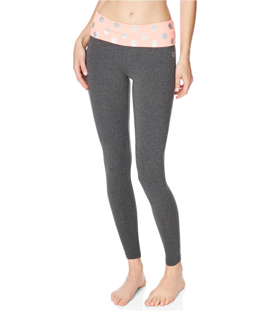 Aeropostale Womens Glitter Polka Dot Yoga Pants