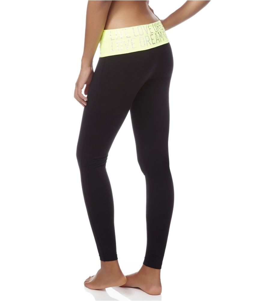 Aeropostale Womens Rhinestoned Legging Yoga Pants