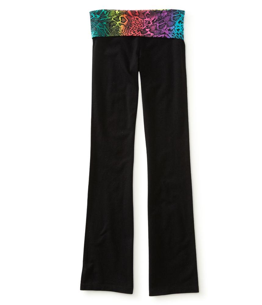 56913e4e87 Aeropostale Womens Rainbow Cheetah Yoga Pants | Womens Apparel ...