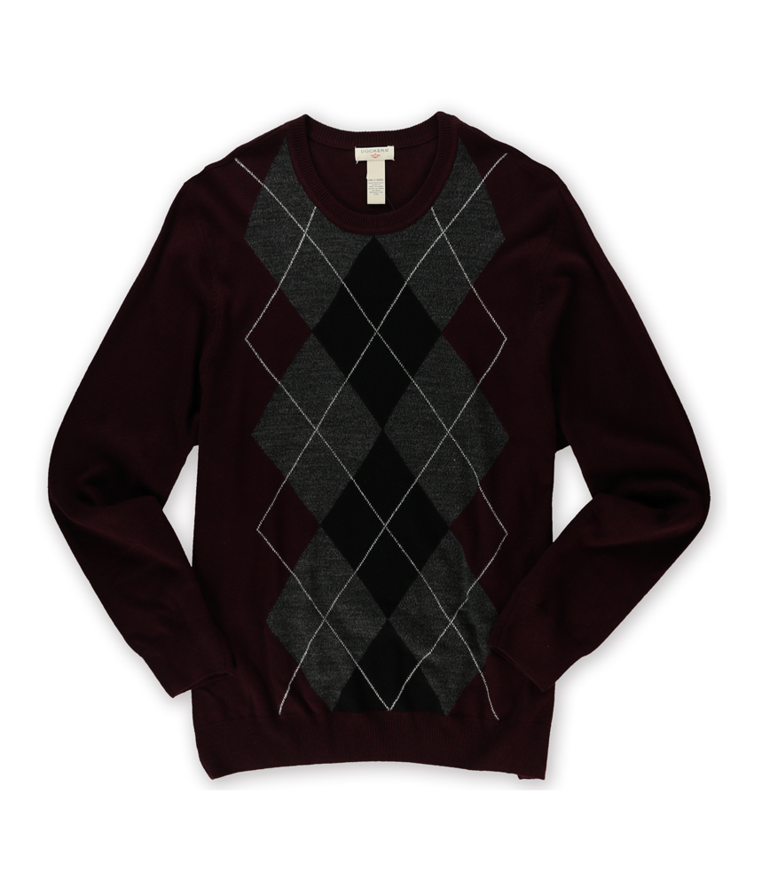 DOCKERS Mens Argyle Pullover Sweater 2xlt Reds Burgundy | eBay