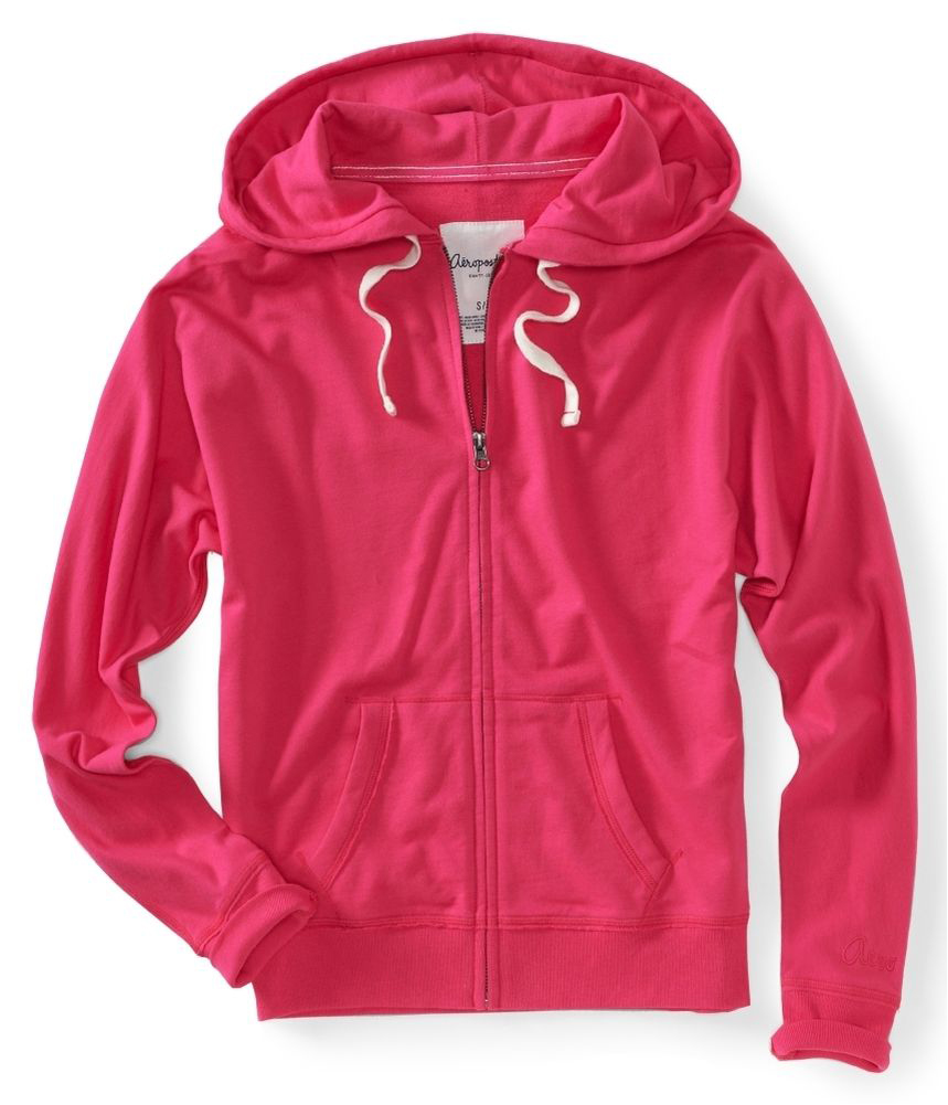Aeropostale Womens Solid Print Zip Up Hoodie Sweatshirt | eBay