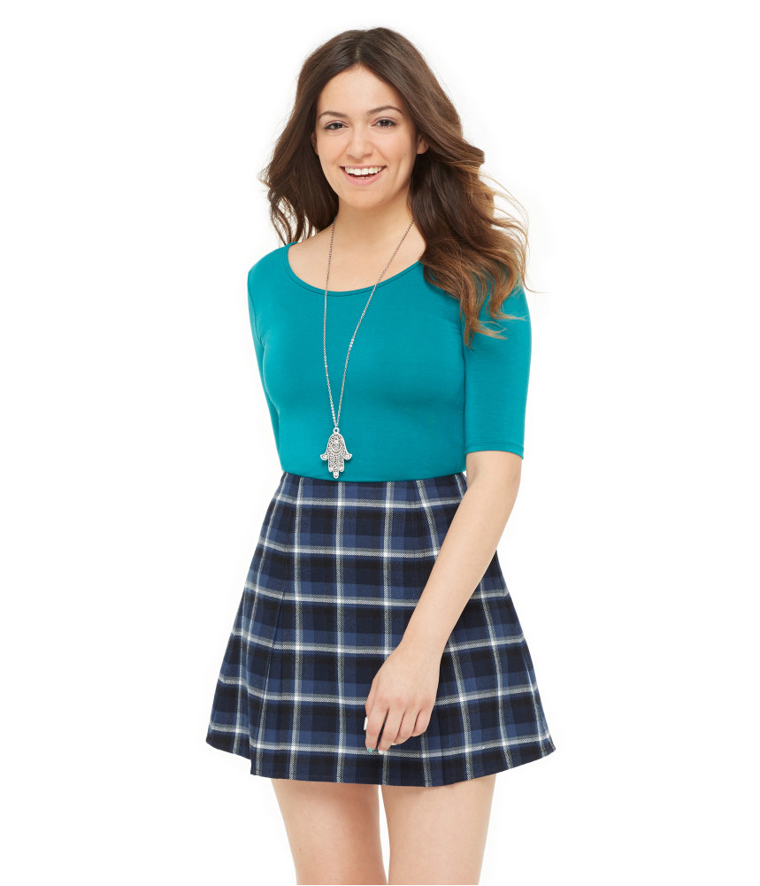 Flannel Mini Skirt 7