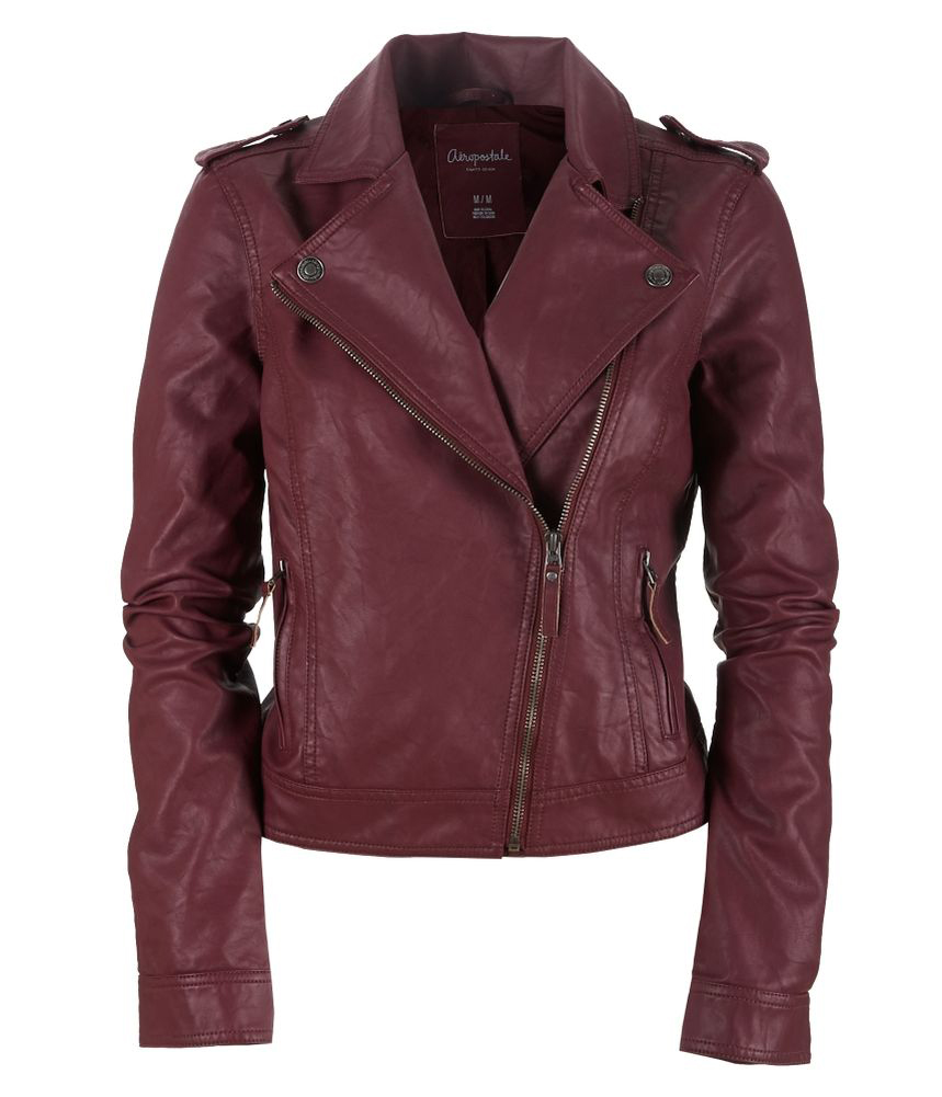 Faux womens leather jacket